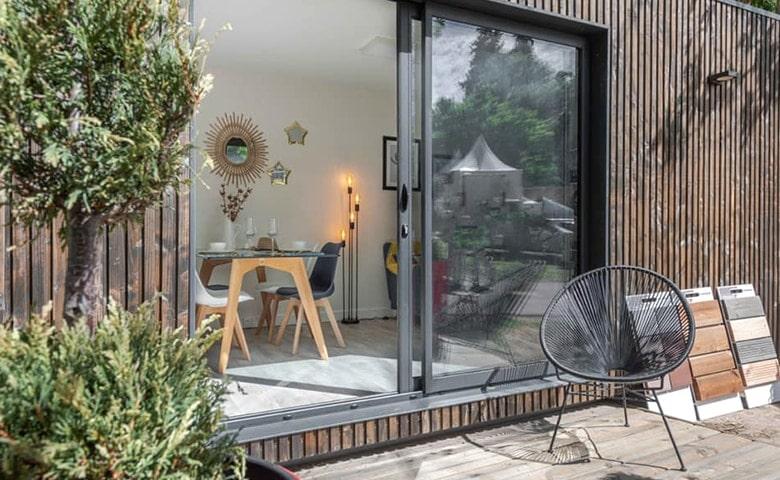 studio de jardin bois