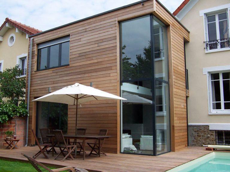extension bois à étage